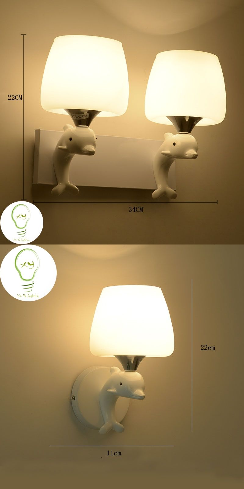 Modern wall lamp dolphin fashion creative art deco lighting simple ...