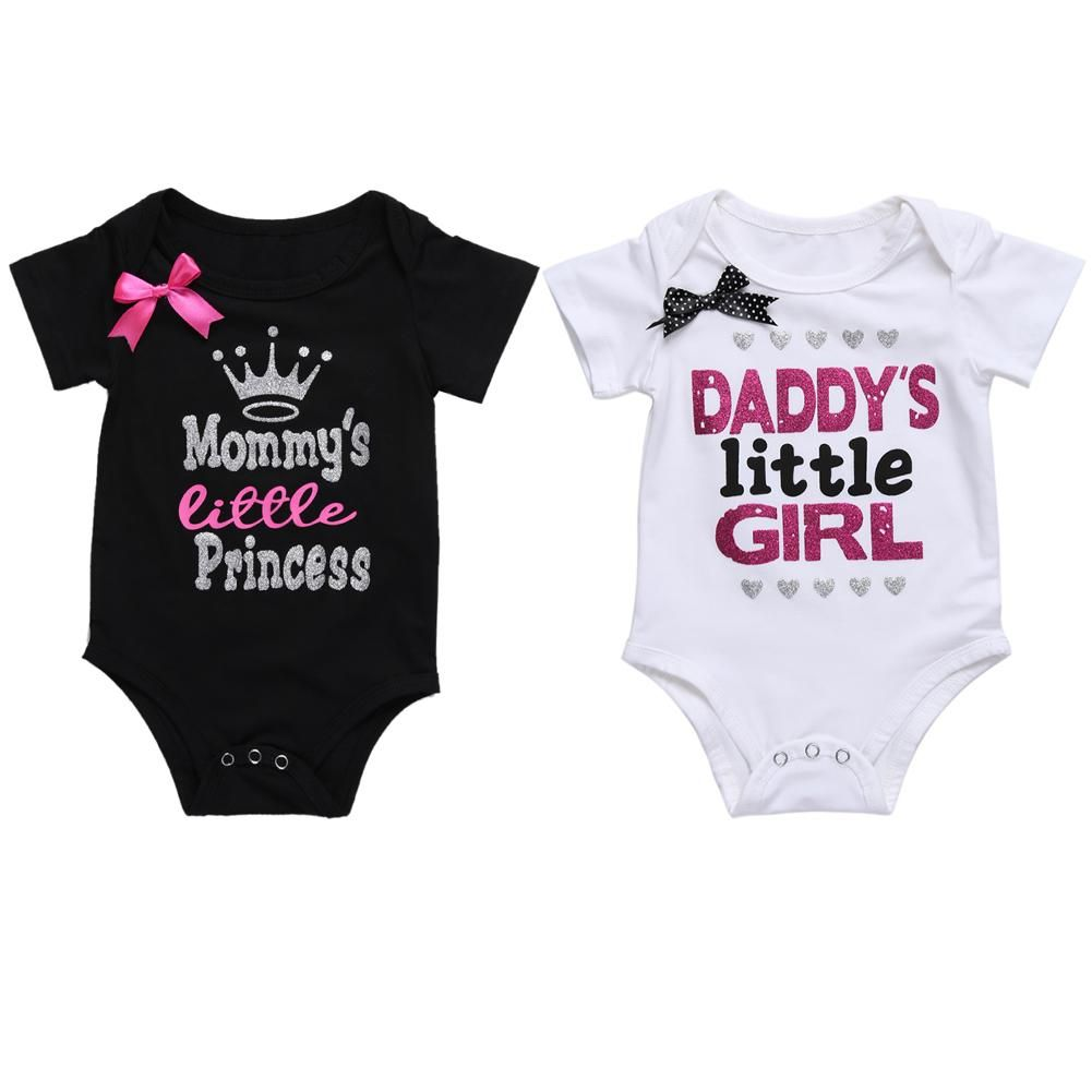 c018ddf6d Newborn Baby Girls Clothing Summer Daddy s Little Girl Letter Print ...