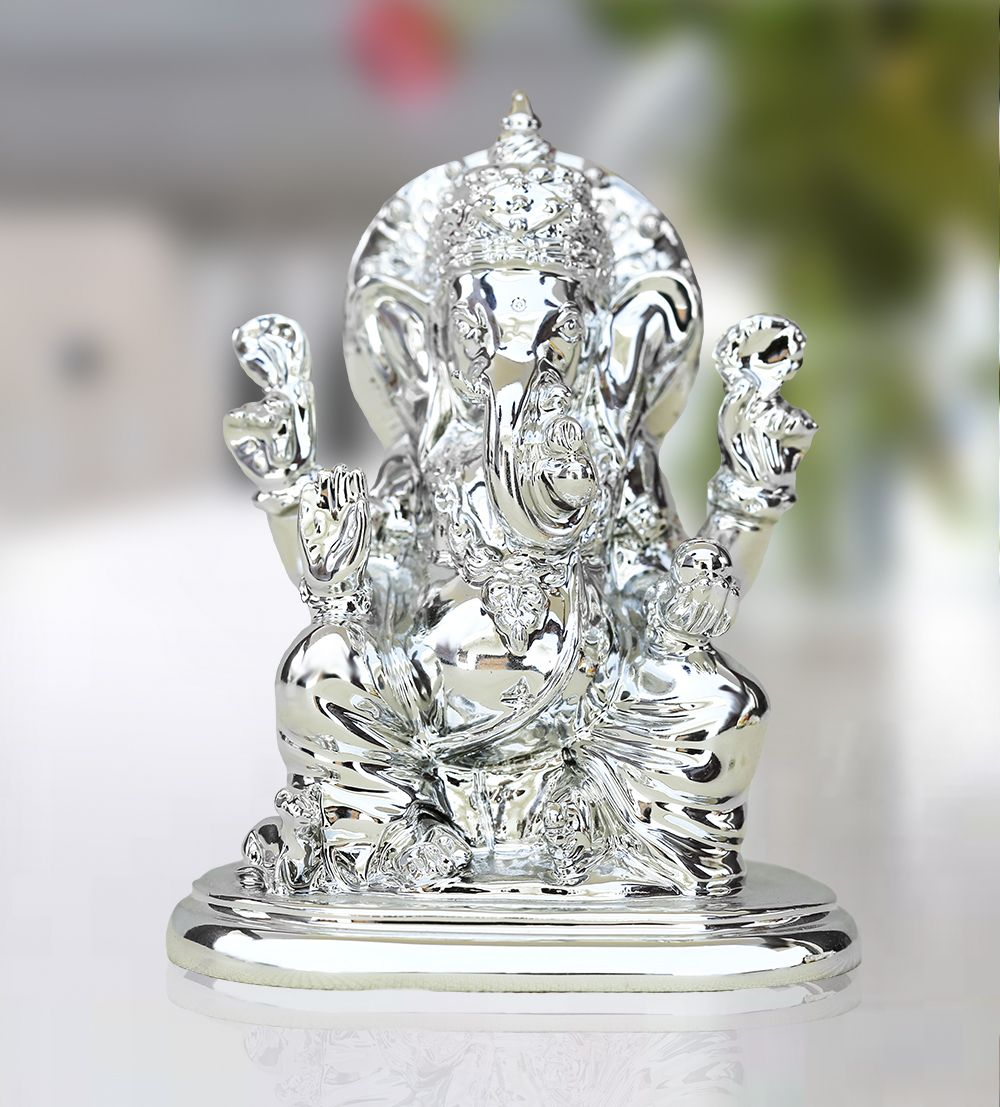 Shri ganesh ji with stand one of the finest works done so far of shri ganesh ji with standsilver platedonline gifts shopping india junglespirit Gallery
