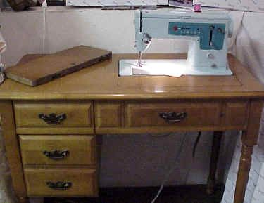 I'd love to have a real desk for my sewing machine. Then I wouldn ...