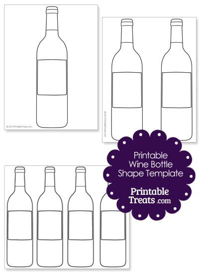 printable wine bottle shape template from printabletreats com