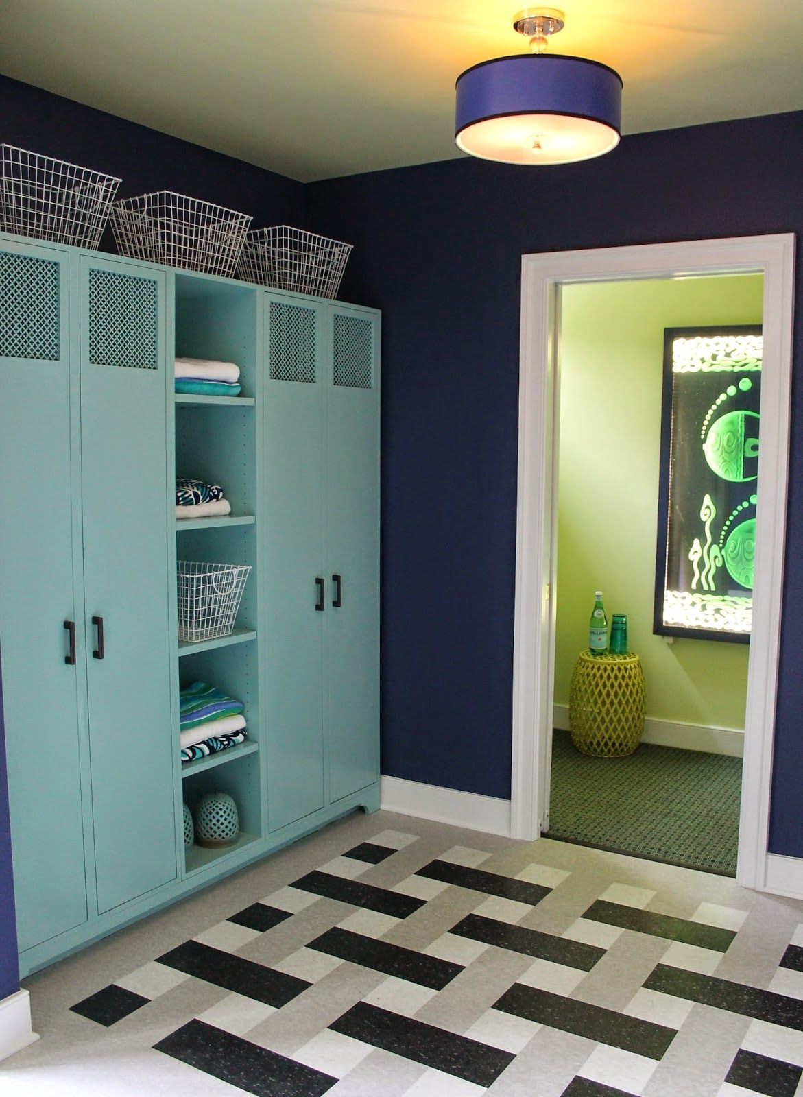 Dc Design House 2017 Part 2 Pool Changing Room With Lockers Bathroom And Laundry