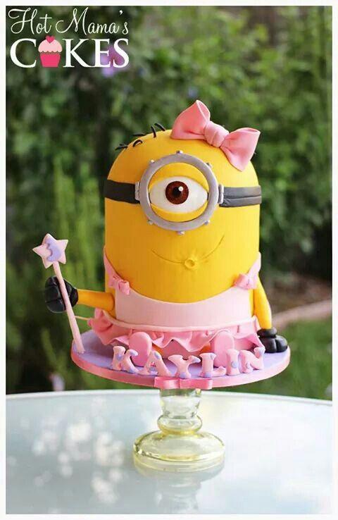 Minion Girl Cake Minion Cake Pinterest Girl Cakes Cake And