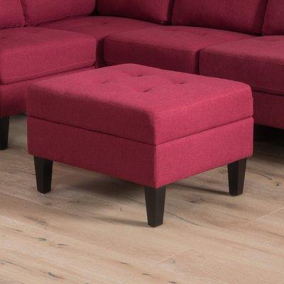 Enjoyable Alcott Hill Lindley Storage Ottoman Products Fabric Theyellowbook Wood Chair Design Ideas Theyellowbookinfo