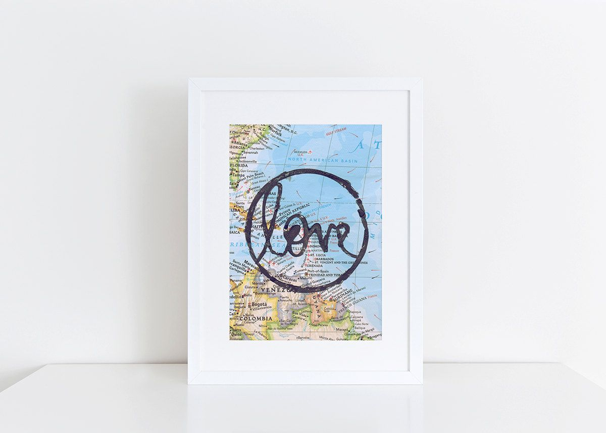 Love Travel Print Frame Art by SmithProject on Etsy