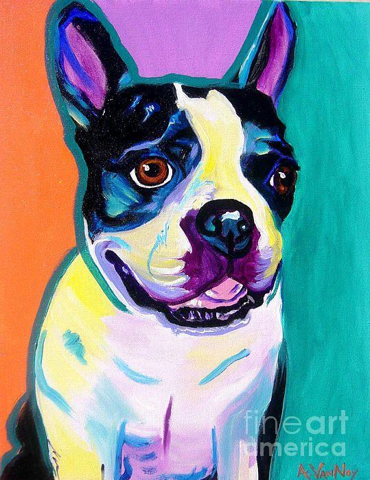 Boston Terrier by Alicia Vannoy