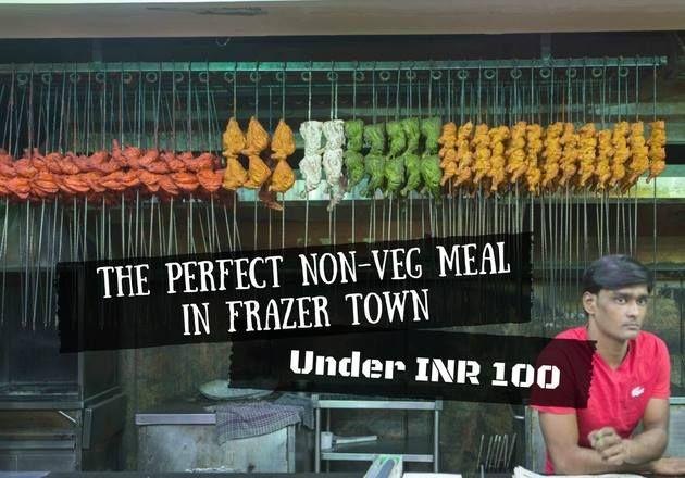 The Perfect Non Veg Meal Under Rs 100 Awaits In Frazer Town Add St Johns Church Road Near Coles Park Frazer Town Bangalor Veg Recipes Veg Cafe Restaurant