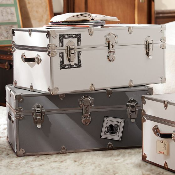 This Set Of Dorm Trunks From #PBDorm Is Great For Hiding Blankets, Pillows,