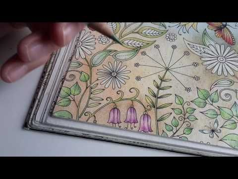 Secret Garden Step By Step Day 24 4 Different Pencil Brands Youtube Secret Garden Coloring Book Coloring Journal Johanna Basford Coloring Book