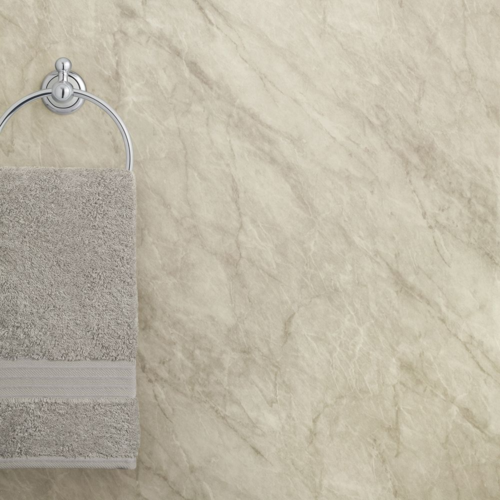 Max Fit Grey Marble Gloss Pvc Plain Panel 2400mm X 1000mm X 10mm 10mm Thick Tongued And Grooved Pvc Shower Panel In A Grey Marble Gloss Finish Shower Panels