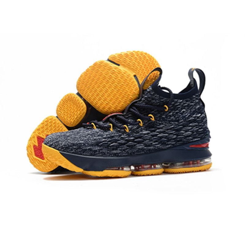 best cheap f6d18 102be Basketball shoes Nike Lebron 15 blue yellow | SHOES in 2019 ...