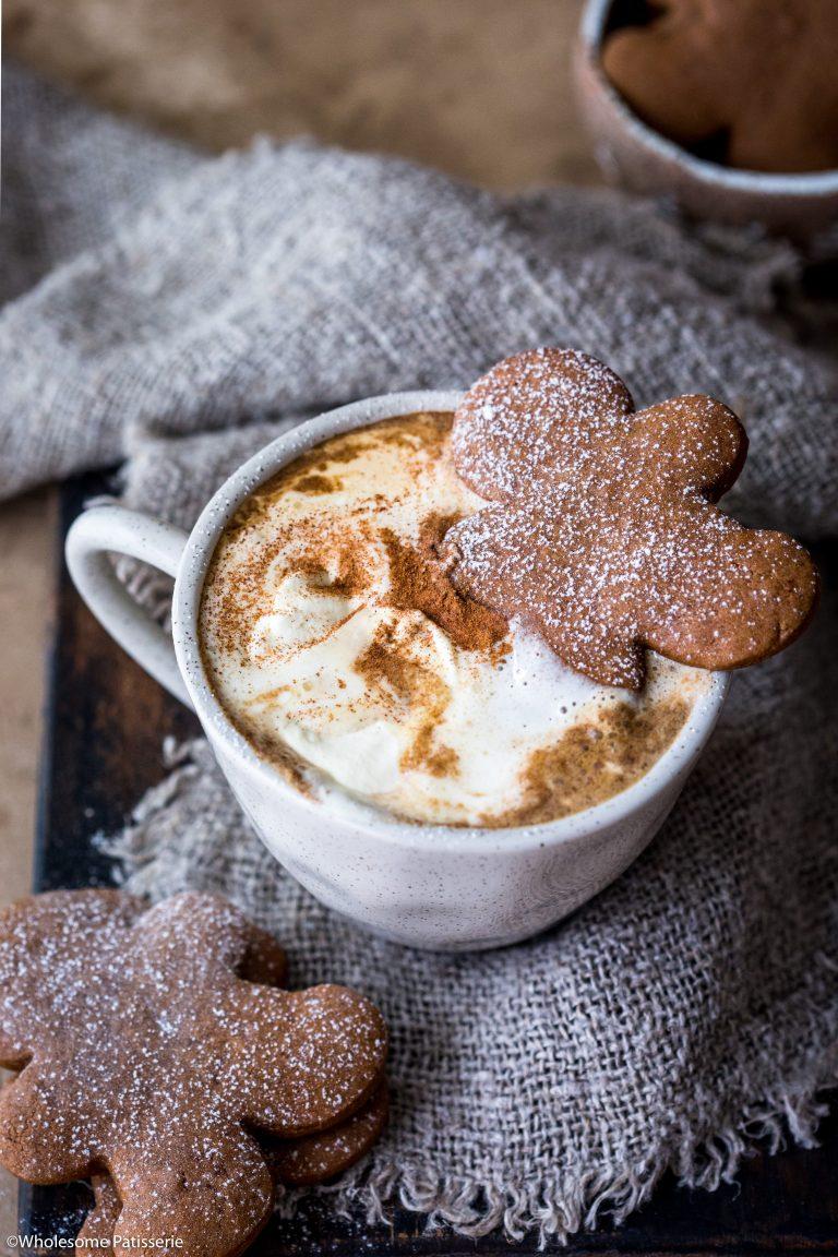 Gingerbread Latte Wholesome Patisserie Recipe In 2020 Latte Flavors Gingerbread Latte Coffee Recipes