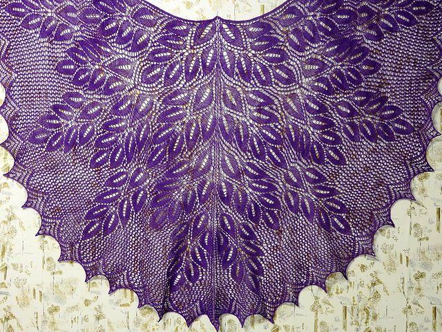 Ravelry: swallow67\'s Spring Wood Shawl- free pattern | chusty, szale ...
