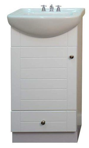 Small Bathroom Vanity Cabinet And Sink White Pe1612w New Pee Smile
