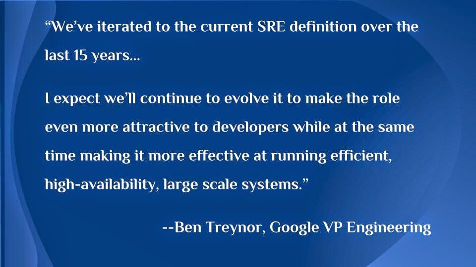 Site Reliability Engineering Reliability Engineering Engineering Treynor