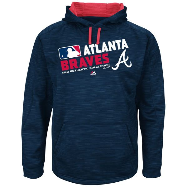 Atlanta Braves Majestic Authentic Collection Team Choice Streak Hoodie - Navy - $79.99