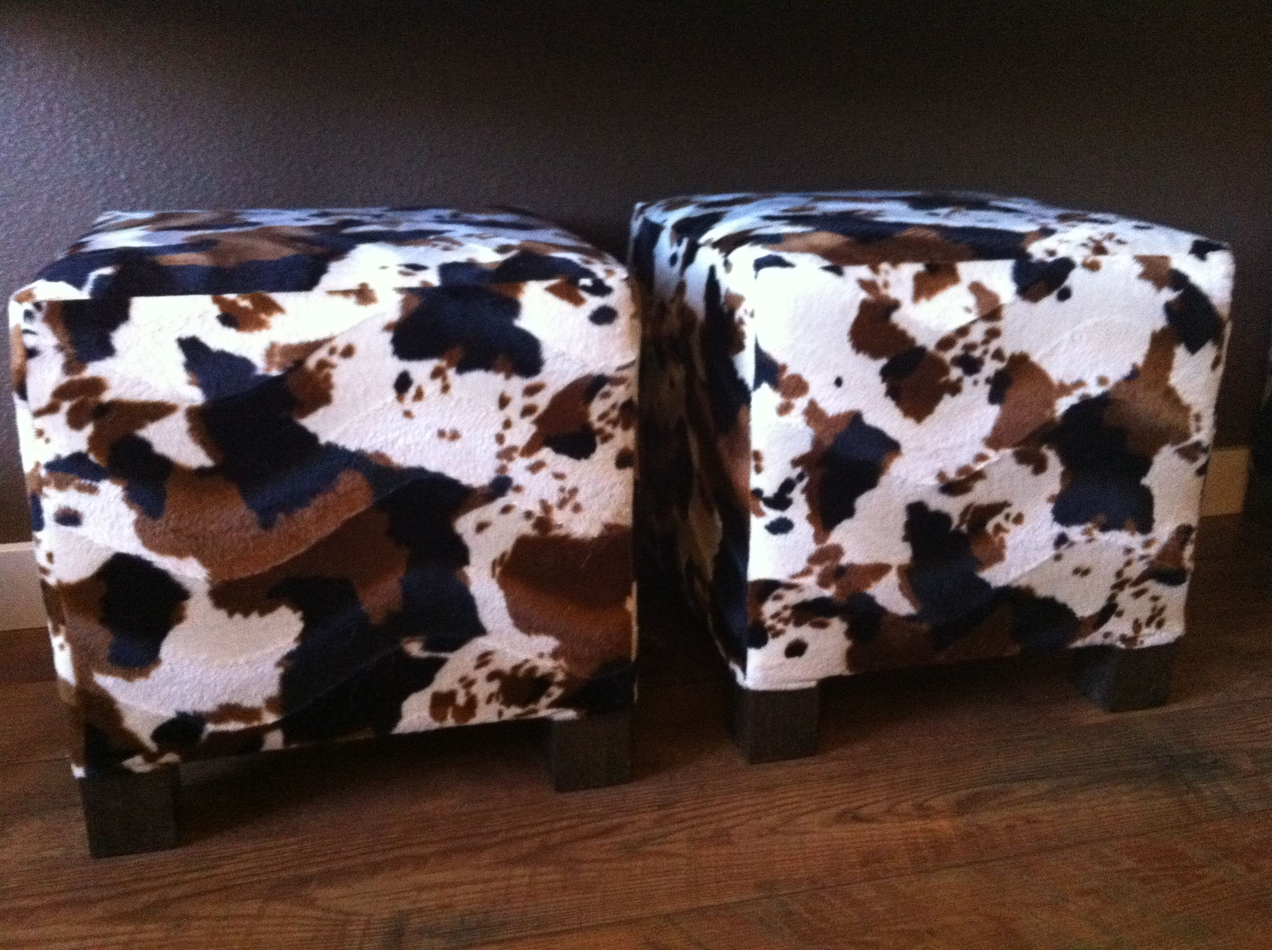Faux Cowhide Ottoman Cubes So Easy To Make And Much Cheaper Than
