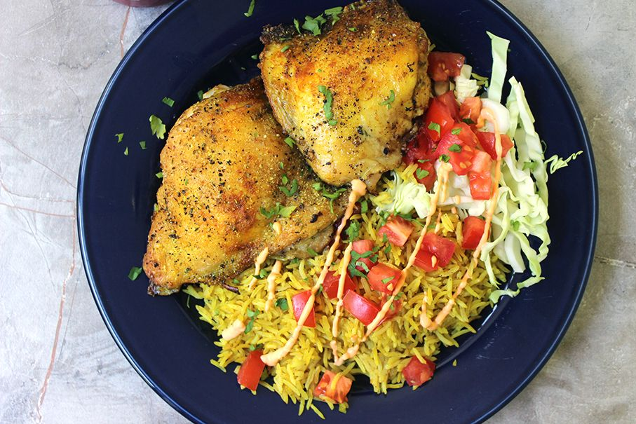 Halal carts boldly flavored middle eastern chicken and fragrant halal carts boldly flavored middle eastern chicken and fragrant turmeric rice with a spicy yogurt sauce forumfinder Gallery