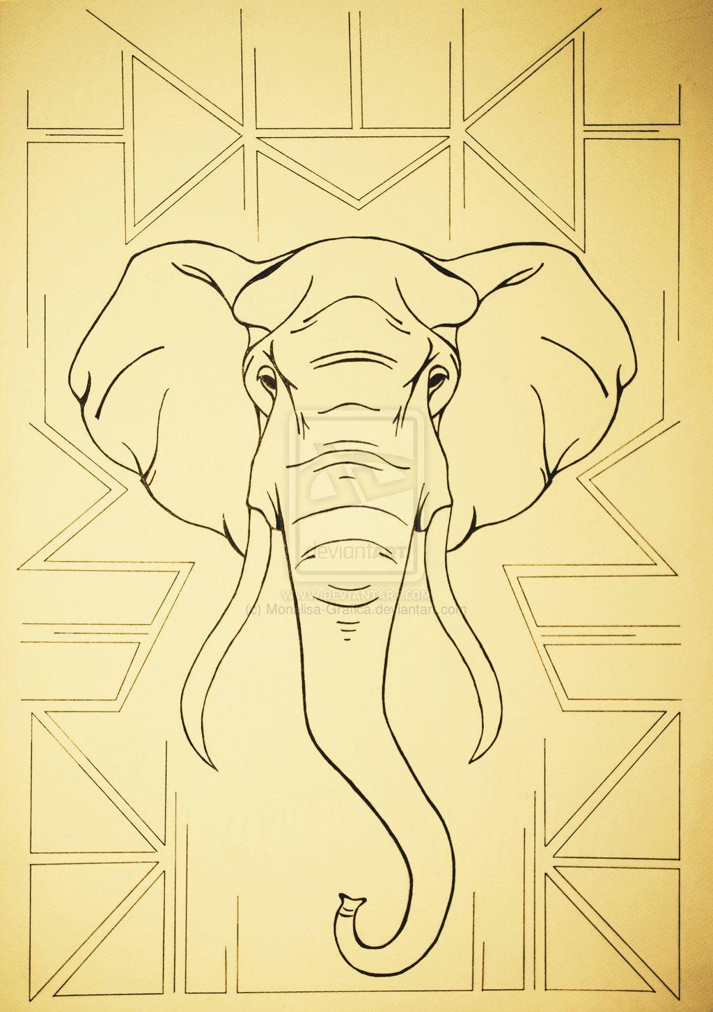 geometric_elephant__outline | Tattoos | Pinterest ... - photo#34