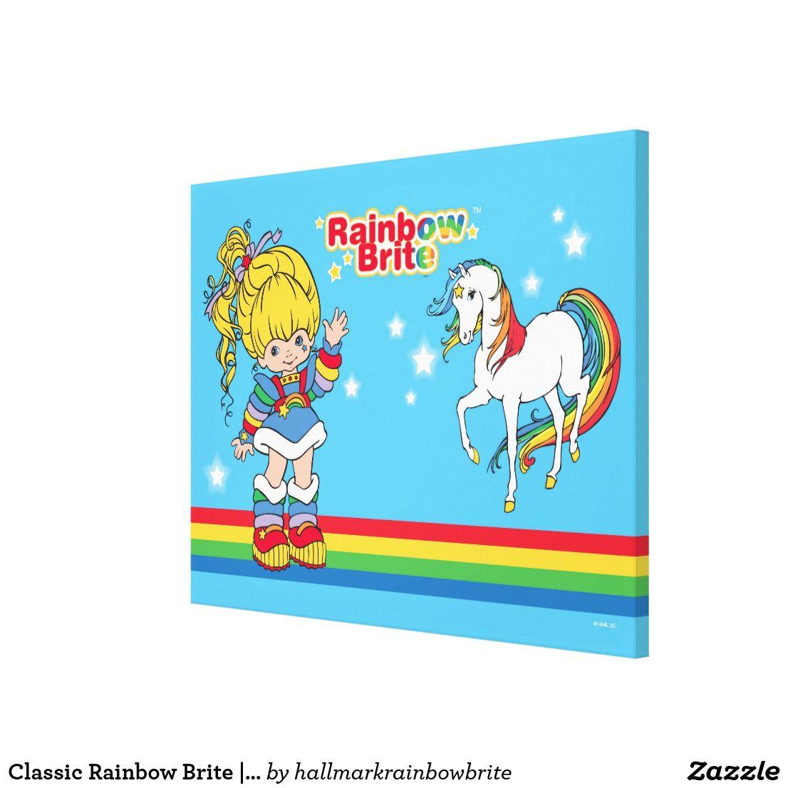 Classic Rainbow Brite | Rainbow Brite & Starlite Canvas Print ...
