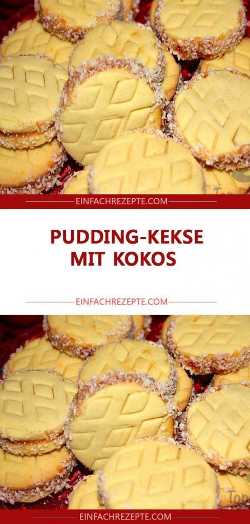 Pudding-Kekse mit Kokos