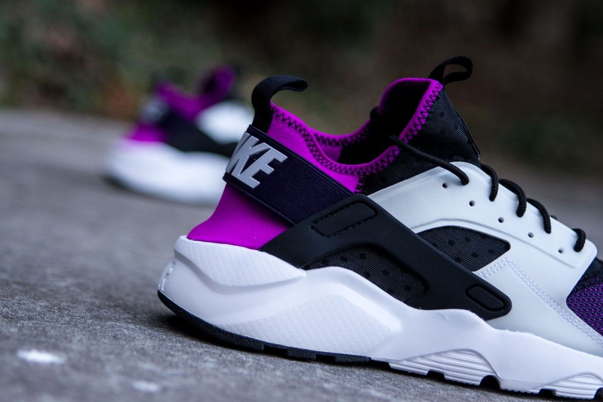 the sale of shoes multiple colors outlet on sale NIKE AIR HUARACHE RUN ULTRA BLACK WOLF GREY HYPER VOLT www ...