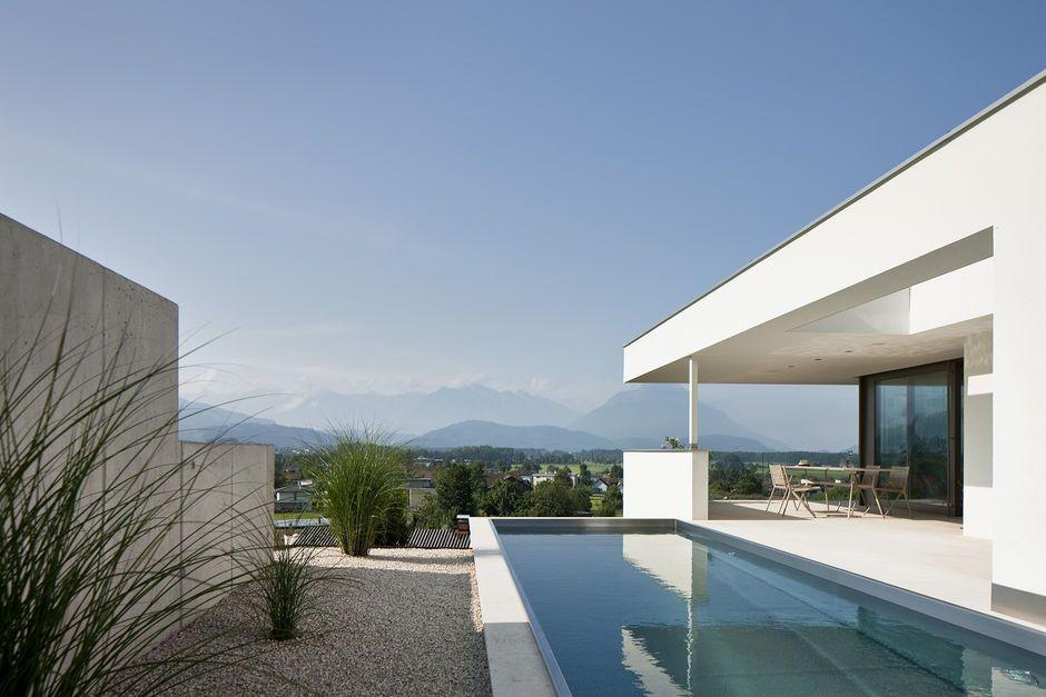 Einfamilienhaus #Hanghaus #Klaus modern #Edelstahlpool# luxushaus