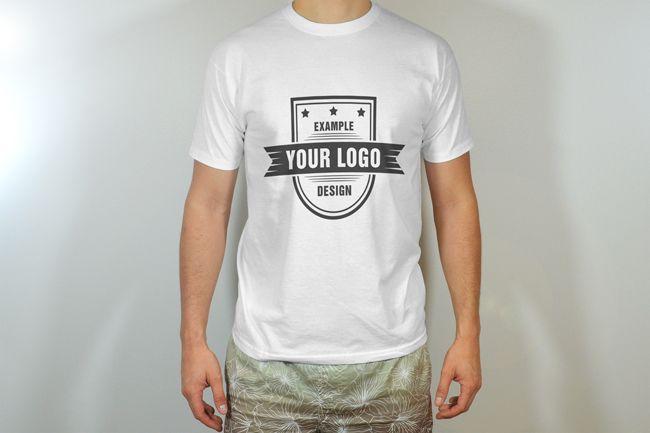 Download Men 39 S T Shirt Round Neck Front View Template Mediamodifier Online Mockup Generator Mens Tshirts Clothing Mockup Men