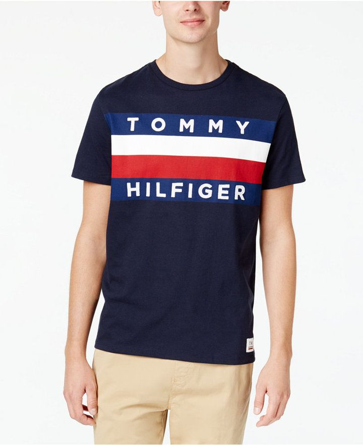 82744d6c1 Tommy Hilfiger Men s Upstate Logo Flag T-Shirt