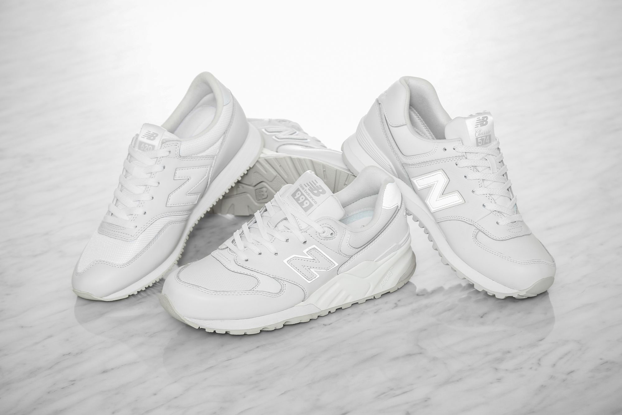 White on white from New Balance! Limited numbers so sleep on these and you  will miss out!  culturekings  Streetwear  fashion  New Balance 574   whiteonwhite ... cf859cff9
