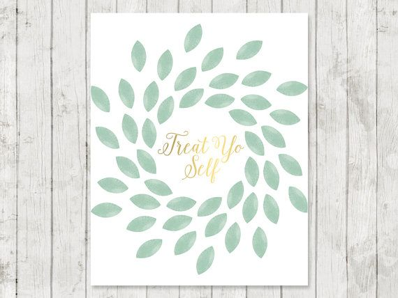 Treat Yo Self Print 8x10 Parks and Recreation by DeerlyLovedShop