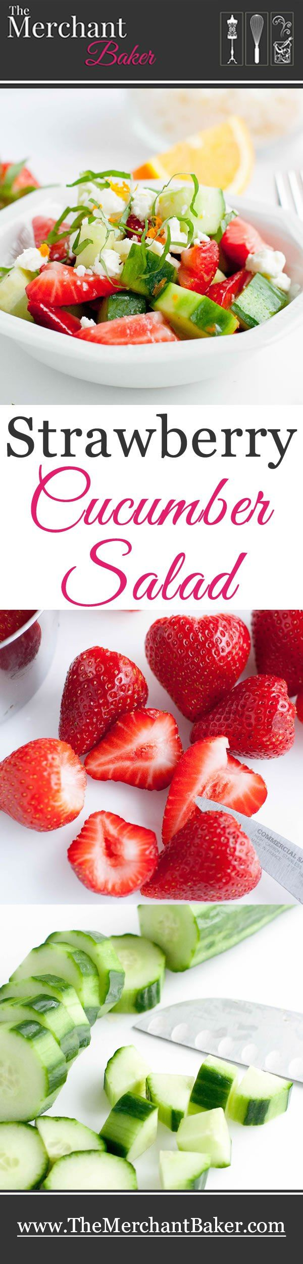 Strawberry Cucumber Salad Recipe Summer Salads Cucumber Salad Healthy Recipes