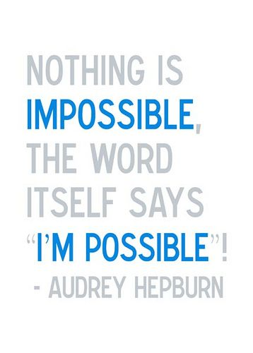 Tell Someone : Nothing is Impossible - Kind Over Matter