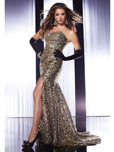 The Sparkliest Prom Dresses | Sequin prom dresses, Gold and Prom
