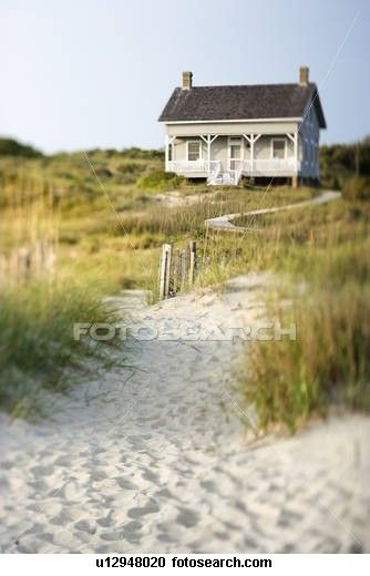 Cottage On Beach Stock Image U12948020 Beach Cottage Style Cottages By The Sea Coastal Cottage