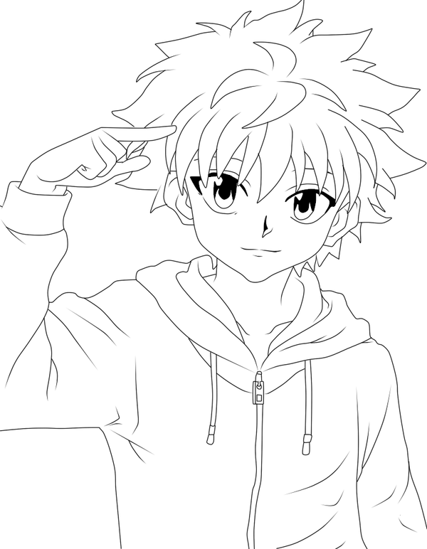 Download Or Print This Amazing Coloring Page Killua Zoldyck Hunter X Hunter From Archershigura Oc Deviantart Anime Drawings Tutorials Killua Coloring Pages
