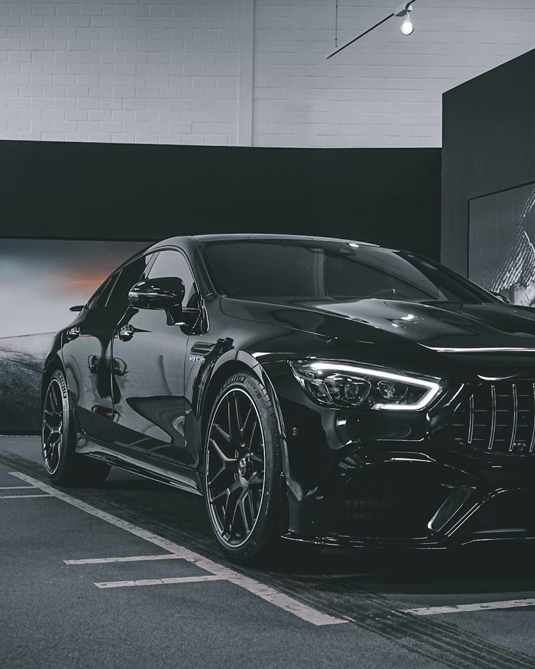 The Dark Knight Mercedes Amg Gt 63 S 4matic Coupe In 2021 Amg Car Mercedes Benz Amg Mercedes Wallpaper