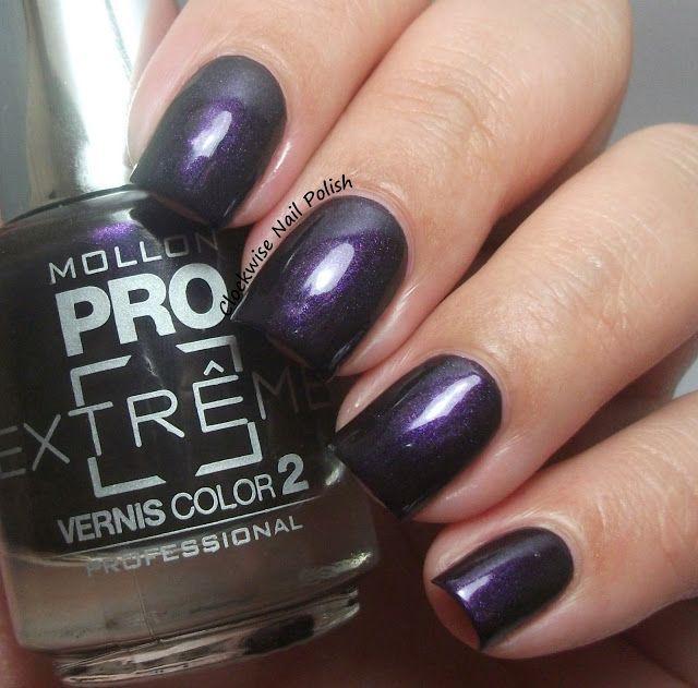 Mollon Pro Extrême 30 Aubergine & Jewel Nail Art (The Clockwise Nail ...