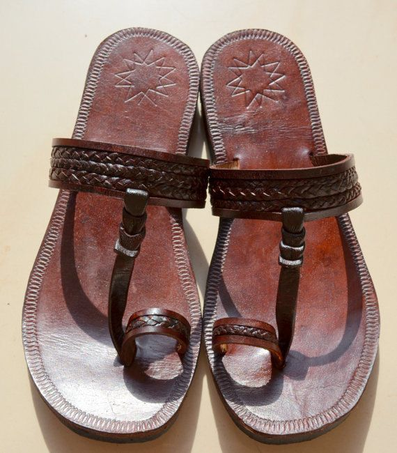 f75dacb826844 SALE Moroccan Inspired Leather Sandals DARK BROWN -Handmade Sandals ...