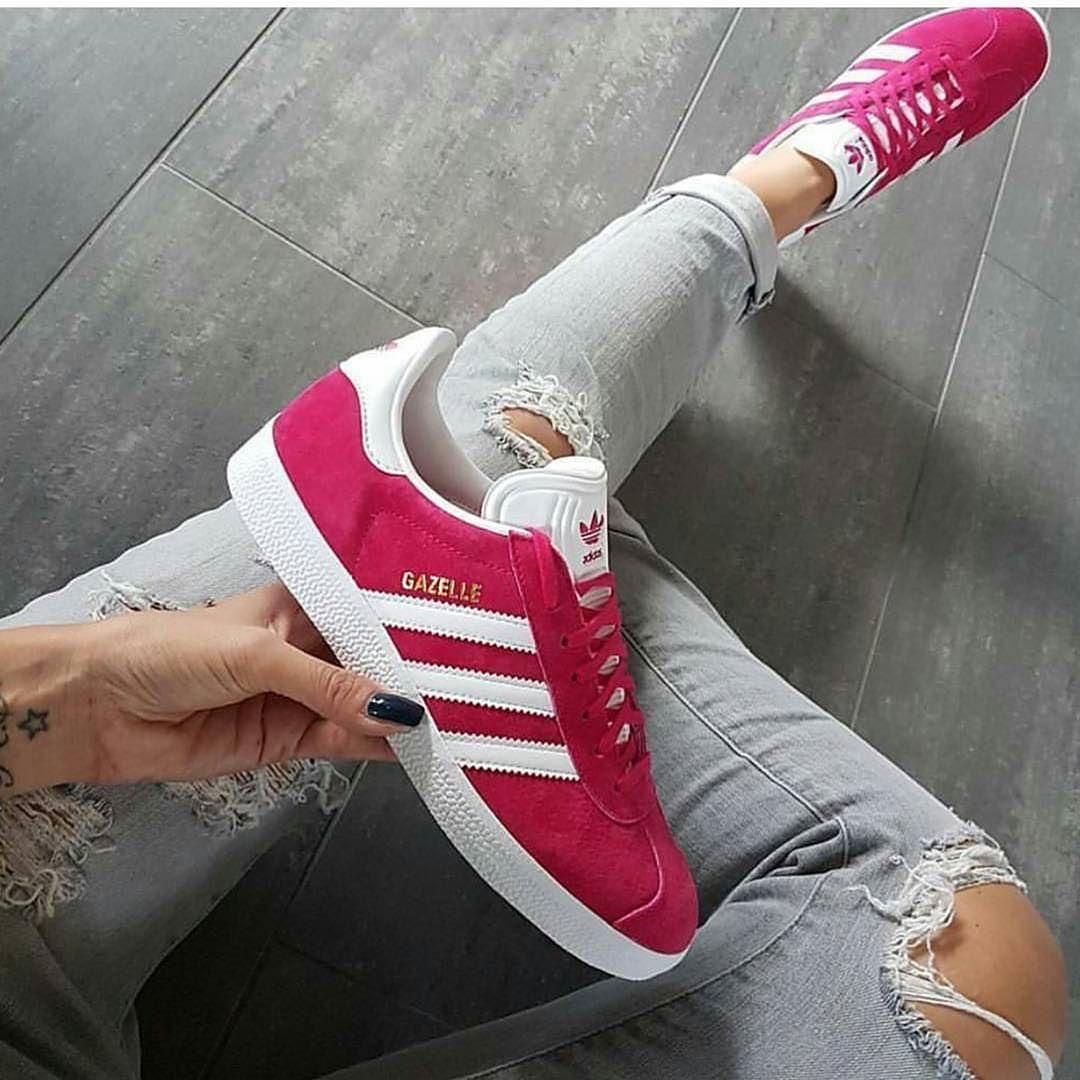 sneakers femme adidas gazelle kylii adidas women pinterest shops roses et adidas. Black Bedroom Furniture Sets. Home Design Ideas