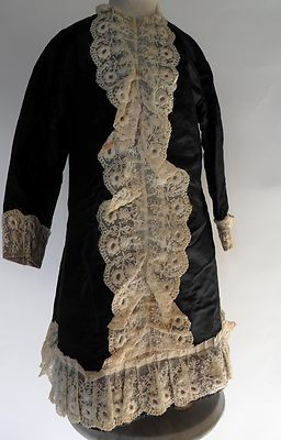 velvet and lace mourning coat