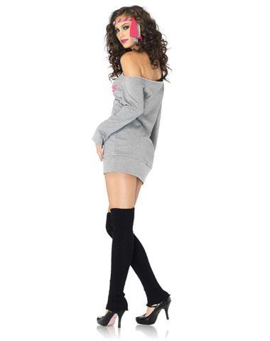 a76514c117efb Flashdance SweaT-Shirt Dress Adult Womens Costume