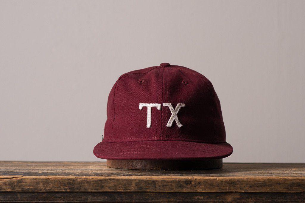Ebbets Field TX Texas Ball Cap Hat Manready Mercantile Made in USA America  Mens 4cf02b806f27