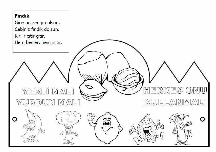 Yerli Mali Boyama Sayfalari Faaliyetler Okul