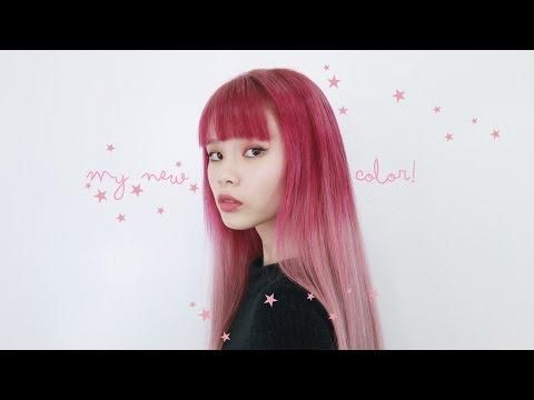 My New Hair Color Transformation ♡ Magenta To Pastel Pink Melt