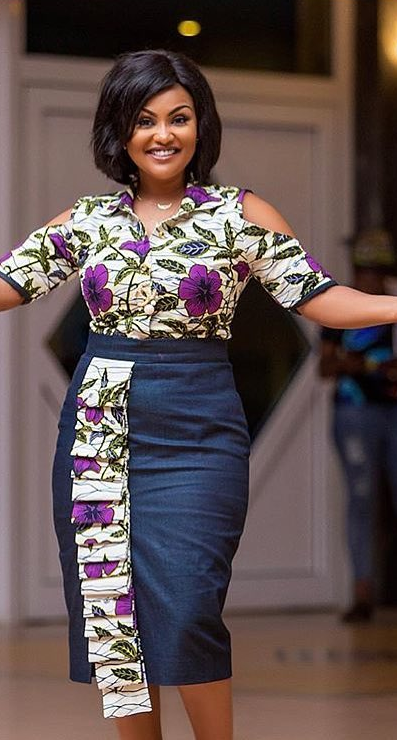 a6599084578183 Nana Ama Mcbrown in African print fashion