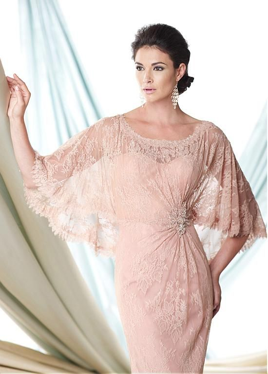 Glamorous Lace Sheath Scoop Neckline Full-length Mother of the Bride ...