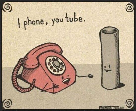 I Phone, You Tube | Lustige werbespots, Social media ...