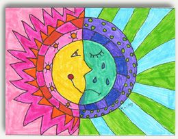 Sun and Moon - Warm and Cool Colors