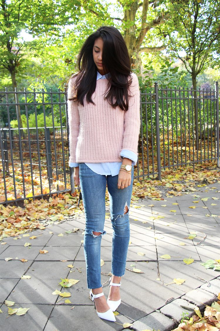 dusty pink sweater | Fashion | Pinterest | Dusty pink